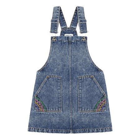 kids hundred pieces denim overall dress