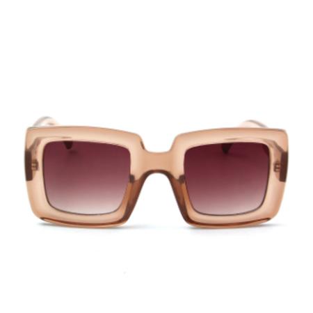 Persons Square Translucent Sunglasses - Taupe