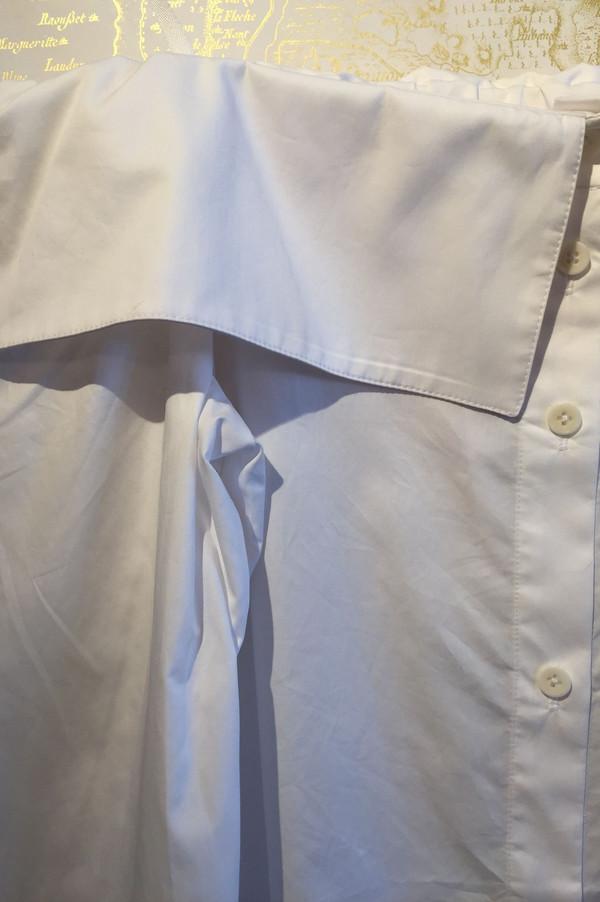 Tibi Cotton poplin off the shoulder shirt