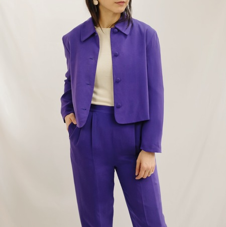 Hey Jude Vintage Brushed Silk Two Piece - Violet