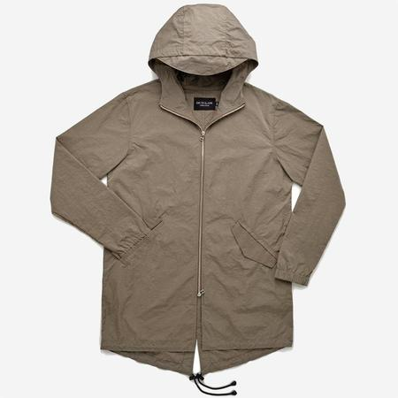 Outclass Attire Nylon Water Repellent Fishtail Jacket - Taupe
