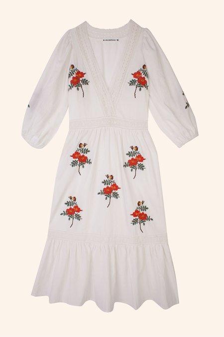Meadows Iris Dress - White