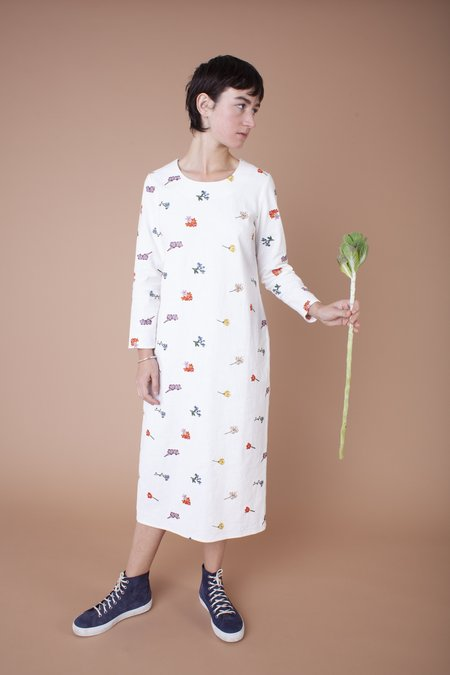 Meadows Embroidered Floral Lotus Dress