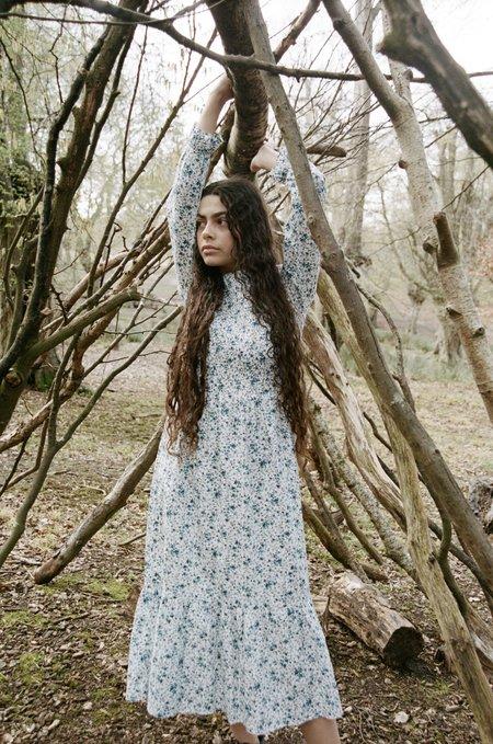 Meadows Rose Dress - Midi Blue