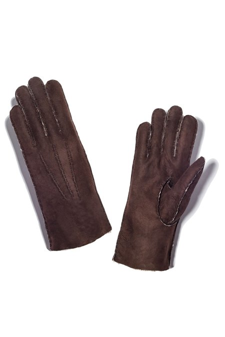 MAISON FABRE Curly Shearling Gloves - Santos