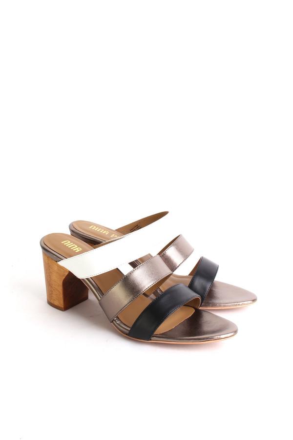 Nina Payne Drea mule in tri-color