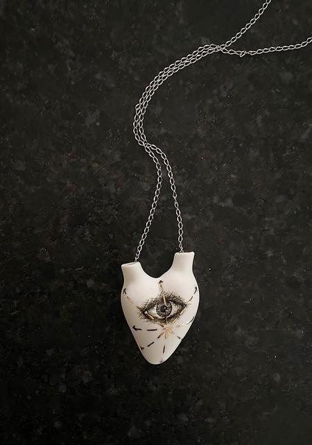 Studio Elica 'Out Of Sight, Out Of Mind' Porcelain Anatomical Heart Necklace