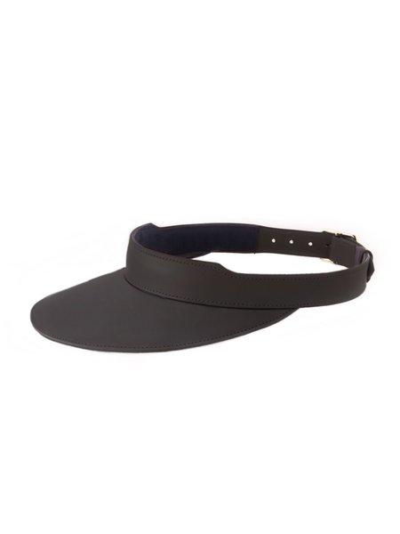 Officina del Poggio Leather Visor - Black