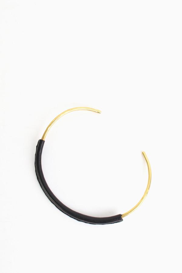 Crescioni Kiva collar necklace in black