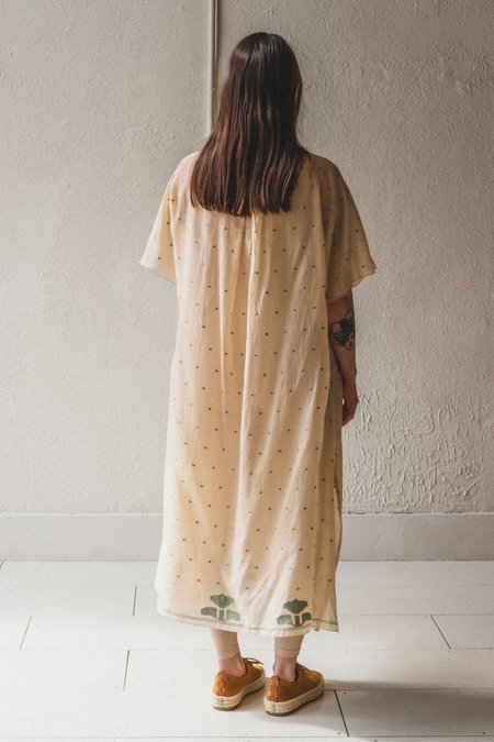 SEYA DRESS IN TEA DYED JAMDANI COTTON