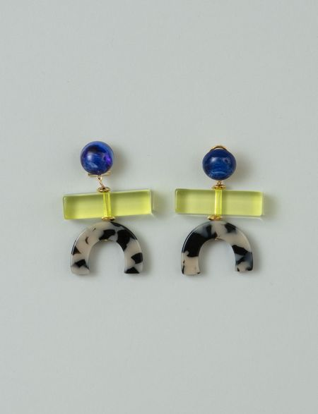 Rachel Comey Stroller Earrings - Dalmatian