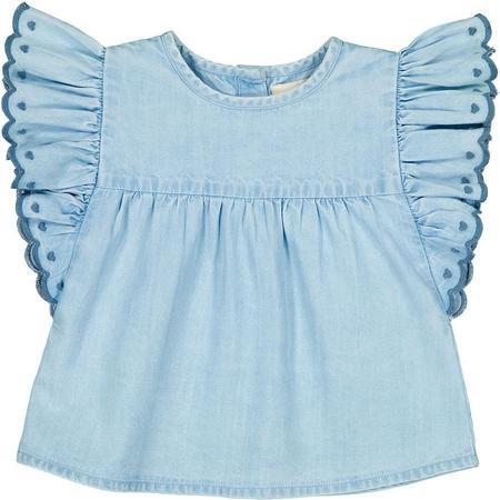 kids louis louise jasmin chambray tunic - blue