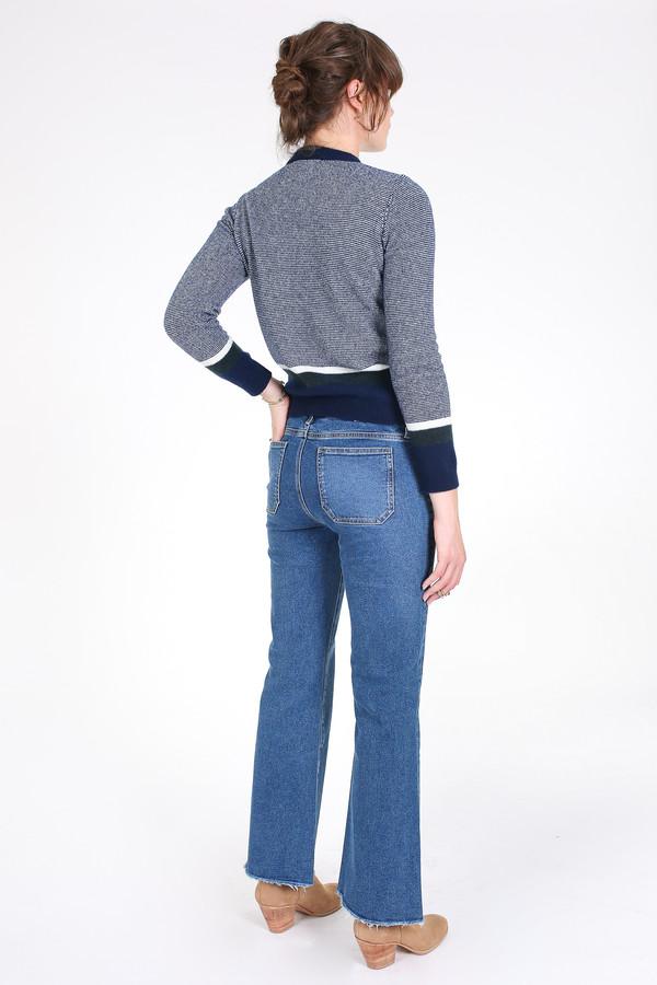 M.i.h Jeans Shrunken stripe guernsey sweater in blue multi