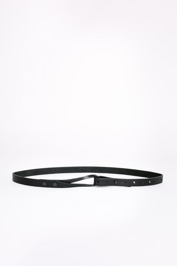 Map of Days Skinny loop belt in black