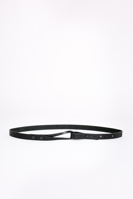 Map of Days Skinny loop belt in black