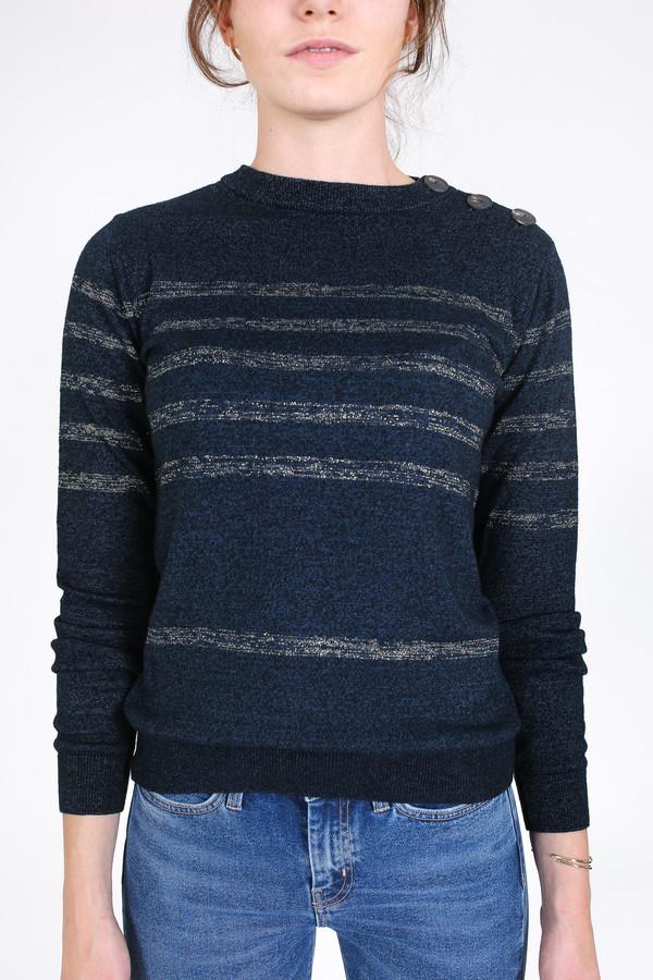 M.i.h Jeans Sophia breton sweater in indigo/gold