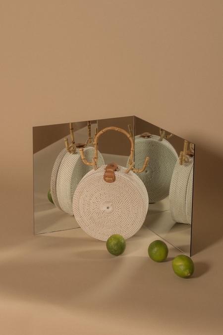 Folk Fortune Rattan Bag - White Bamboo
