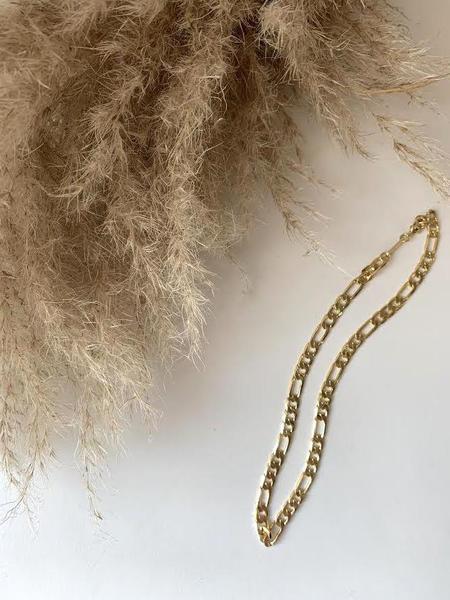 MERAKI BOUTIQUE Machete Large Figaro Link Chain Gold Necklace