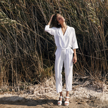chic edition Tamani Jumpsuit - White