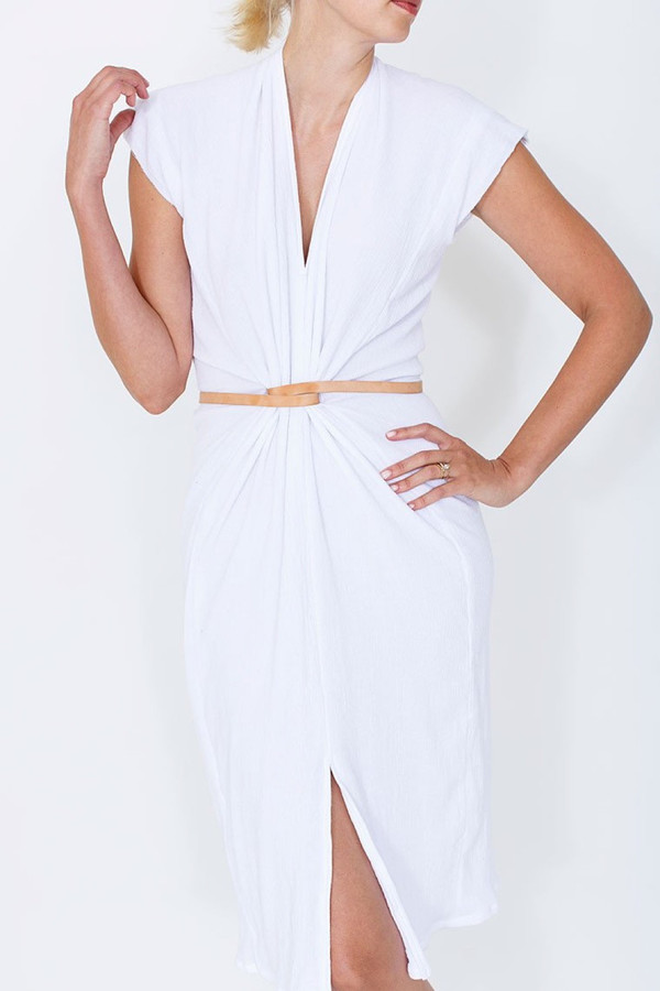Vision Dress in Cotton Gauze - White