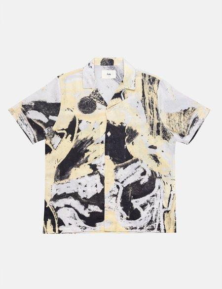 Folk Clothing x Alfie Kungu Soft Collar Shirt with Flare Print - Light Gold