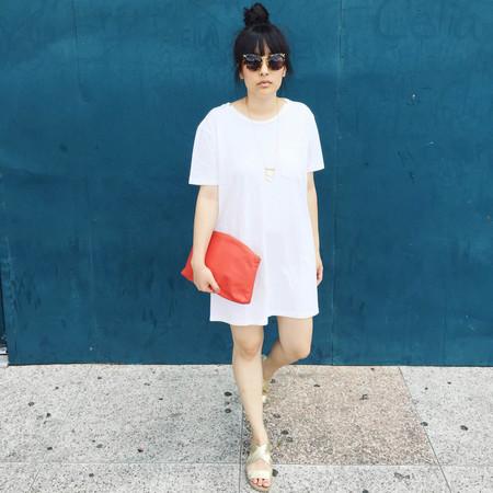 Skargorn #69 Tee Dress - Milk Wash
