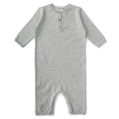 kids treehouse cashmere onesie - grey marl