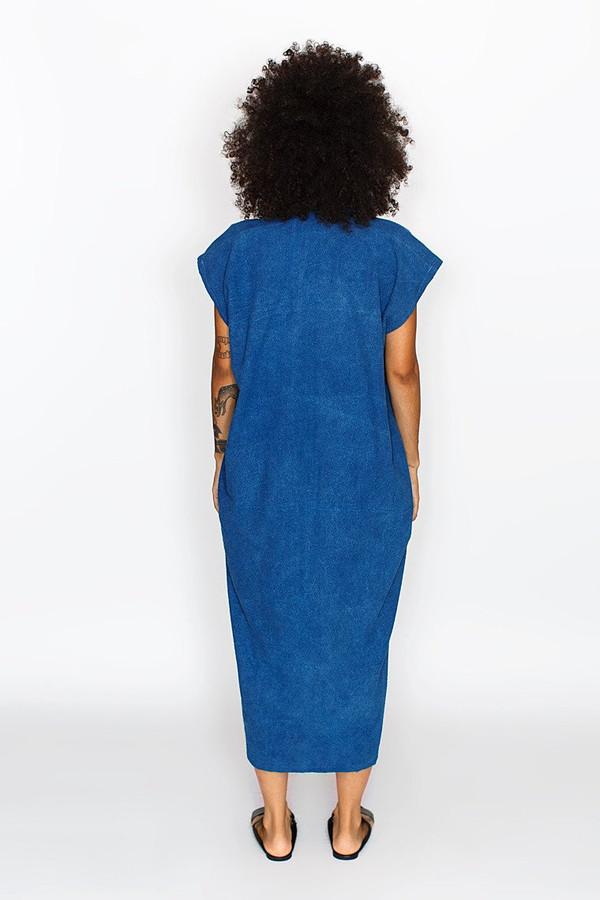 Miranda Bennett Everyday Dress, Oversized, Indigo Silk Noil