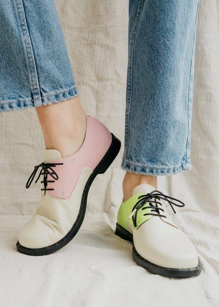 Camper Twins Oxford - Pink/Green