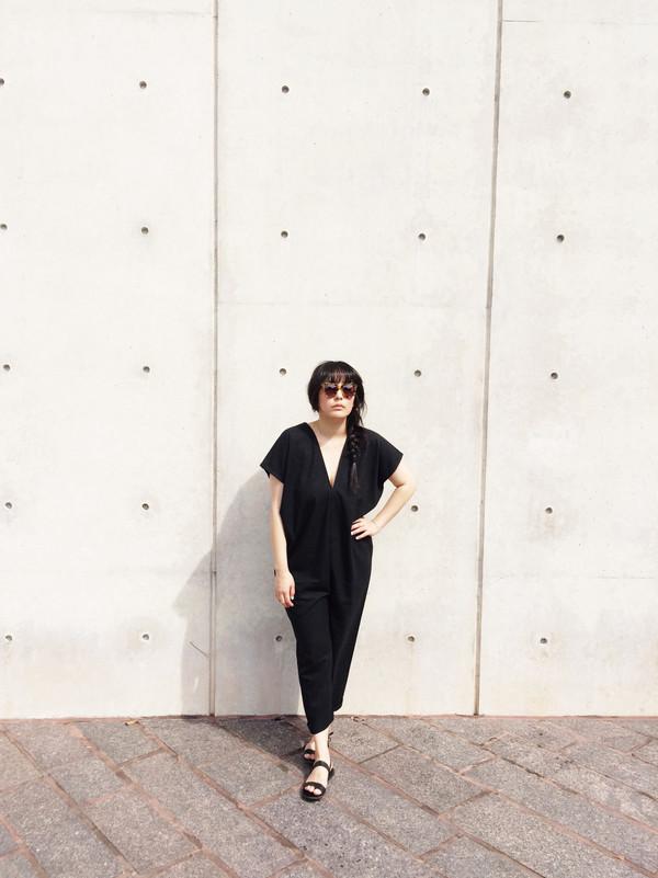 Miranda Bennett Everyday Jumpsuit, Indigo Silk Noil