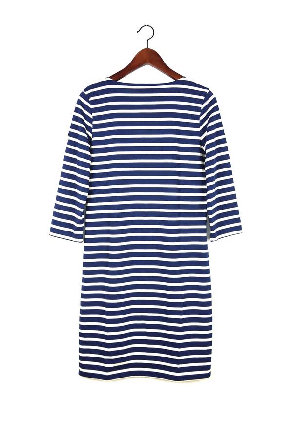 SAINT JAMES Galathee Dress, Marine/Ecru