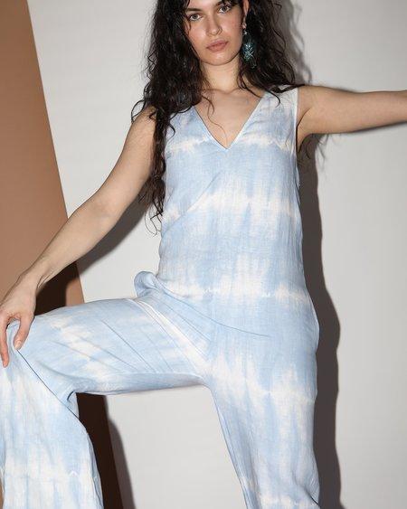Nomia Skye Tie Dye Jumpsuit - SKY BLUE