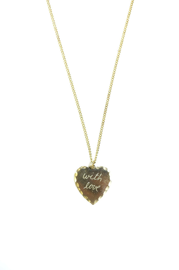 "In God We Trust NYC Sweet Nothings Necklace 24"", With Love"