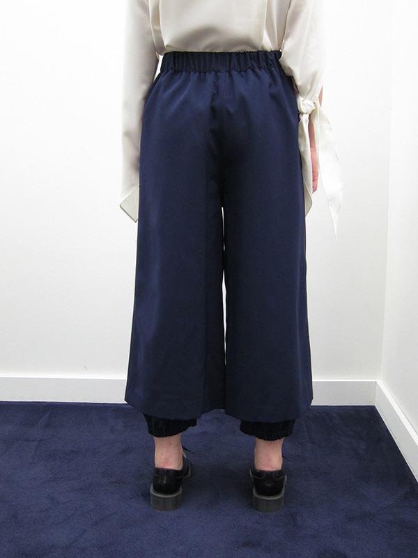 Andrea Jiapei Li Double-Layer Pant with Knee Holes