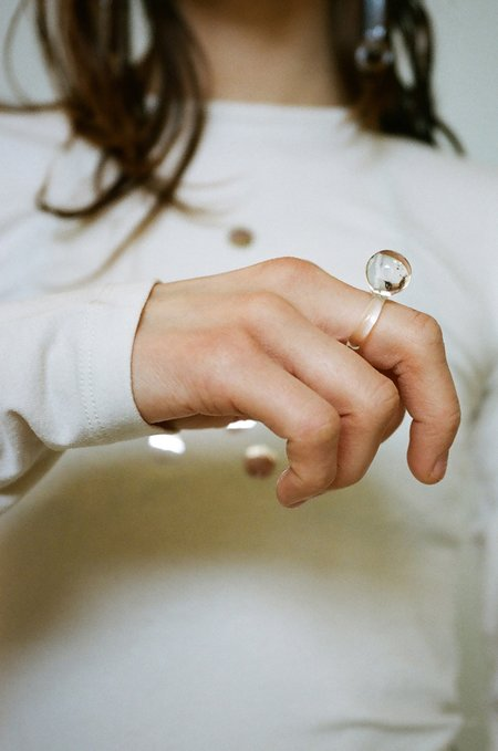 JANE D'ARENSBOURG Orb Glass Ring