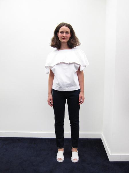 Nancy Stella Soto Jersey Tee Shirt, White