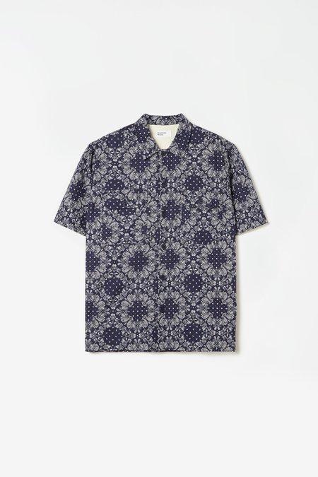 Universal Works Utlility SS shirt bandana - navy