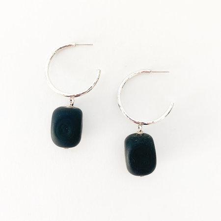 Crescioni lena earrings - black