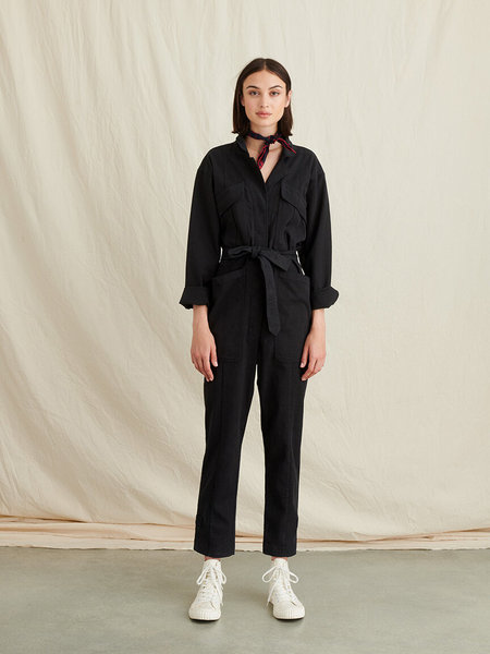 Alex Mill Expedition Jumpsuit - Black Washed Twill