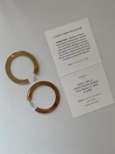 Covet & Keep Septum Earrings - Gold