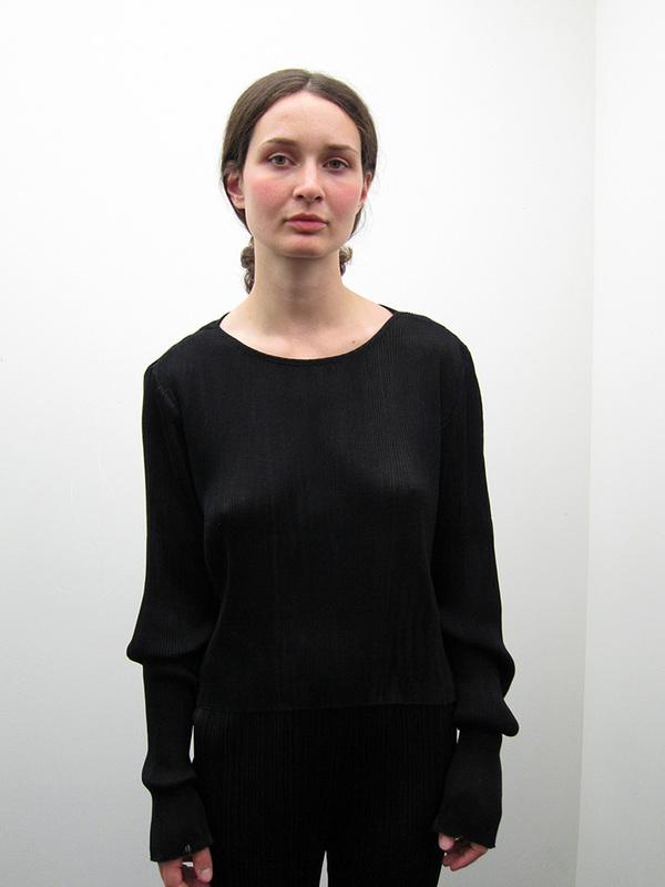 PRISCAVera Plisse Knit Top