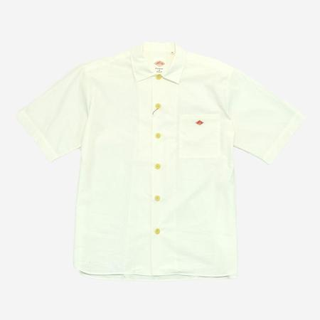 Danton Short-Sleeve Poplin Work Shirt - White