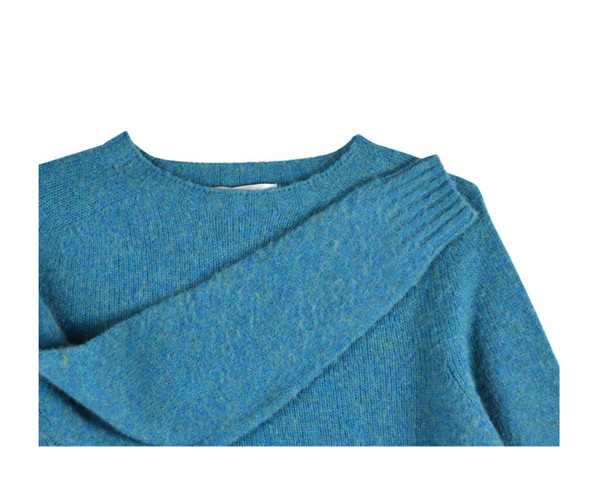HARLEY OF SCOTLAND - CREWNECK SWEATER - AZURE