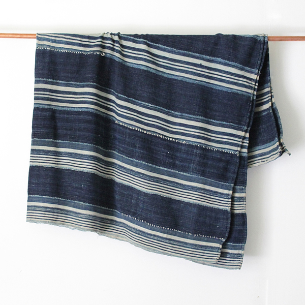 Unknown Patterned Indigo Throw