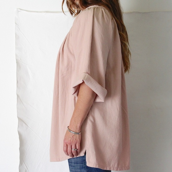 for her Flannel Blush Pleat Top