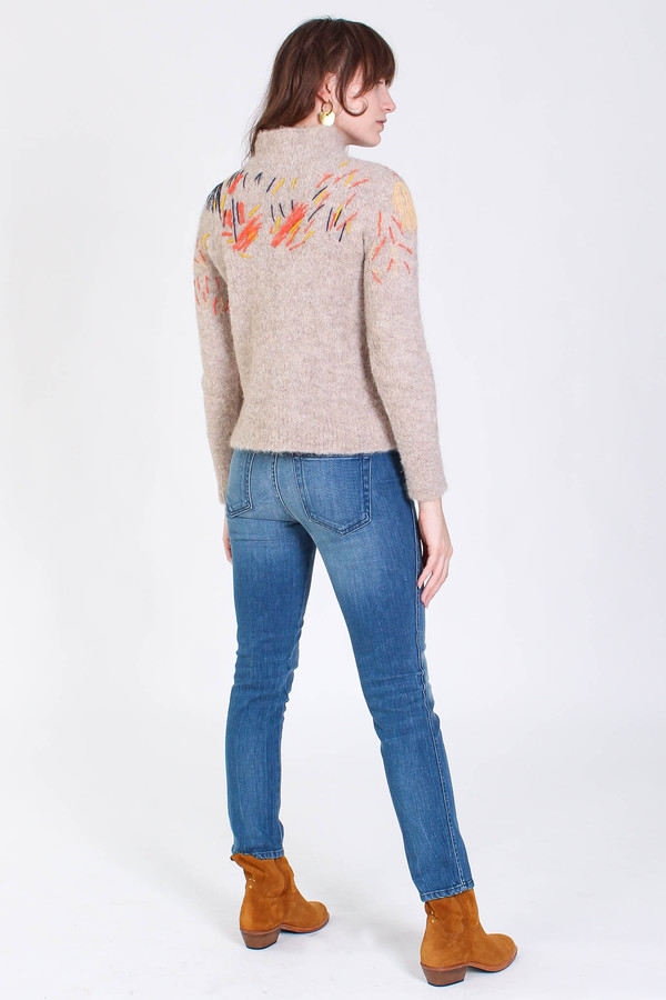 Rachel Comey Funnel neck pullover in oatmeal