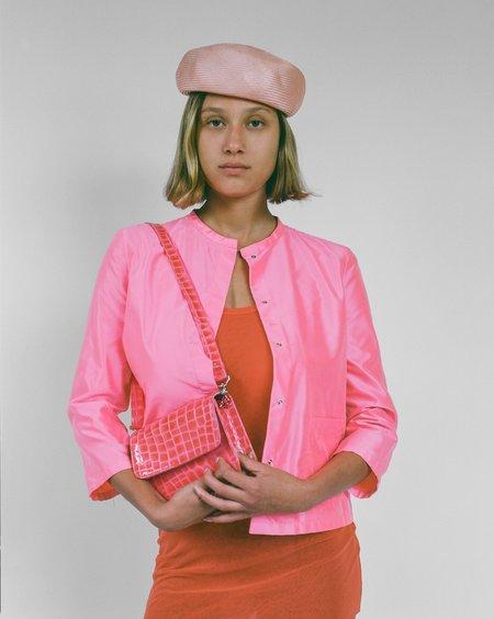 Clyde Jeanie Hat - Peach Sisal