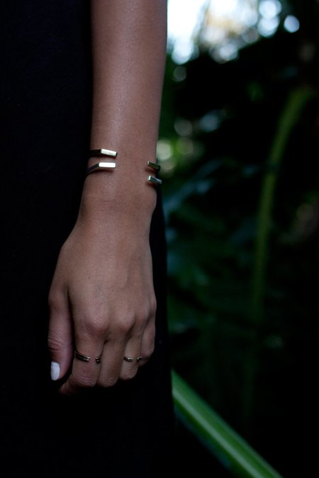 Upper Metal Class Presence Cuff Bracelet - Bronze