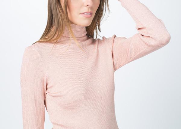 Sara Lanzi Knit Lurex Turtleneck