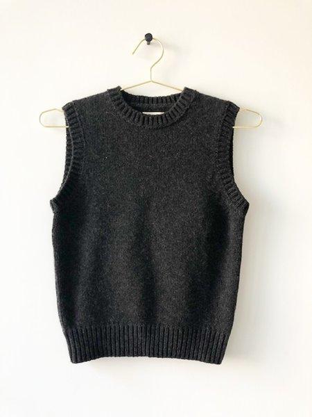 [pre-loved] Khaite Sweater Vest - charcoal